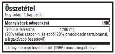 A Mega Tribu-X kieg�sz�t� tribulus terrestris gy�gyn�v�nyt ( kir�lydinnye ) tartalmaz, mely gazdag er�s n�v�nyi (furosztanol) szaponinokban. Ezt a n�v�nyt tradicion�lisan a libid� �s a f�rfi szexu�lis teljes�tm�ny fokoz�s�ra haszn�lt�k. Az elm�lt harminc �vben a kelet-eur�pai er�atl�t�k is nagy sikerrel alkalmazt�k a tribulust, mely hat�s�t a luteiniz�l� hormon stimul�l�s�val �ri el, ami v�laszk�ppen fokozhatja a test term�szetes tesztoszteron termel�s�t. Figyelem, mint sok m�s n�v�nyi kivonat eset�ben is (Garcinia Cambogia-HCA, yohimbe-yohimbine, stb.), a tribulusn�l is a term�kben az akt�v hat�anyagok mennyis�get kell figyelembe venni a min�s�g meg�t�l�s�hez. A Mega Tribu-X term�k�ben az akt�v hat�anyagok mennyis�ge 90%, ebb�l is a leger�sebb, a protodioscin 20%-os ar�nyban tal�lhat� meg. Ha egy term�ken nincs pontosan felt�ntetve ezek mennyis�ge, akkor biztos lehetsz benne, hogy egy gyenge produktumr�l van sz�!  Adagol�s: Mega Tribu-X-b�l Alkalmazz 1-2 kapszul�t naponta �tkez�sek el�tt elosztva. 8 h�t szed�s ut�n tarts 2 h�t sz�netet.