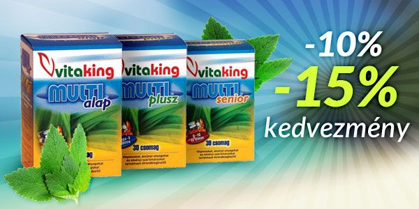 Vitaking multivitamin csomagok 10-15% kedvezménnyel!